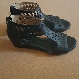 Dexflex comfort Black open toe sandals